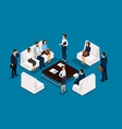 isometric business people for conception vector image vector image