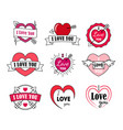love labels badge set for valentines day vector image