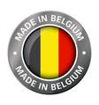 made in belgium flag metal icon vector image vector image