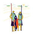 masai characters wearing traditional clothes vector image vector image