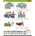 mathematical preschool task vector image vector image