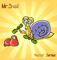 mr snail with sports vector image vector image