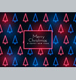 neon christmas tree pattern background vector image vector image