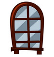 old fashioned style of window vector image vector image