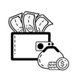 online banking icons vector image vector image