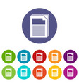 paper icons set color vector image