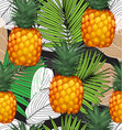 pineapples seamless patter5 vector image vector image