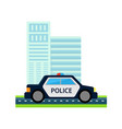 police car with office build vector image