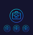 portfolio icons investment concept vector image vector image