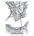 poster map city hong kong vector image