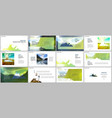 presentations design templates background vector image vector image