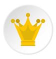 princess crown icon circle vector image vector image