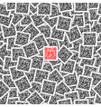 red qr code on the black qr codes background vector image vector image