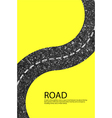 road blank badges and labels on background yellow vector image vector image
