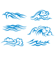 Sea and ocean waves vector image vector image