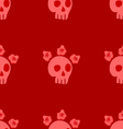 seamless pattern with skull and roses vector image