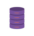 server hosting storage icon colorful vector image vector image