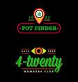 set dispensary medical cannabis marijuana sign vector image vector image