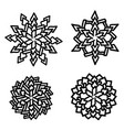 set of snowflakes holiday collection black vector image vector image