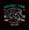 Skull animal Baseball team emblem vector image vector image