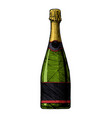 sparkling wine bottle vector image vector image
