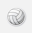 sticker leather volleyball ball vector image vector image