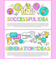 successful idea and generation vector image vector image