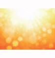 summer sunlight beam rays geometric background vector image vector image