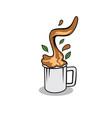 tarik tea design vector image vector image