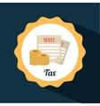 tax icon vector image vector image