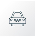 taxi icon line symbol premium quality isolated vector image