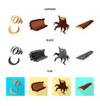 tree and raw icon set of vector image vector image