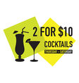 two for ten dollars deal vector image vector image