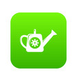 watering can icon green vector image vector image