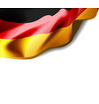 waving flag of germany close-up with shadow on vector image