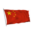 waving in wind flag china on pole vector image