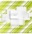 White Square Element On Stripes Background vector image vector image