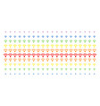 wi-fi shape halftone spectral pattern vector image vector image