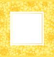 yellow dahlia banner card style 2 vector image vector image