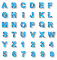 alphabet new style modern blue vector image