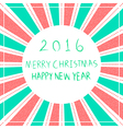 Merry christmas Happy New Year 2016 vector image