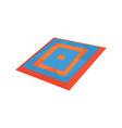taekwondo carpet martial arts ring colorful vector image