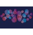 abstract vivid pink and violet dots pattern vector image