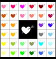 arrow heart sign felt-pen 33 colorful vector image vector image