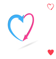 Arrowed heart love concept vector image