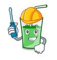 automotive green smoothie mascot cartoon vector image vector image