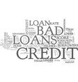 avail finance on better terms at bad credit loans vector image vector image