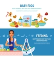 Baby Food 2 Flat Banners vector image vector image