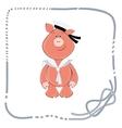 background for postcard piglet sailor vector image vector image