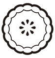 bakery pie icon vector image